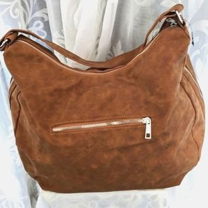 2 $15-items for $20 Tan faux leather Slouch Bag